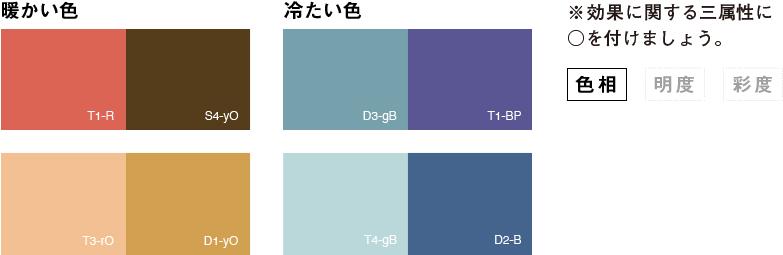 色の効果_暖かい色_冷たい色